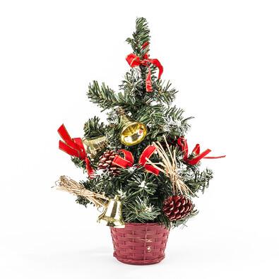 Vánoční stromeček dekorovaný červená 30 cm