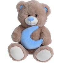 Plyšový medvídek s měsícem, 23 cm