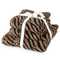 Zebra törölköző szett barna