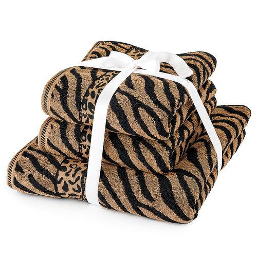 Sada ručníků a osušky Zebra hnědá