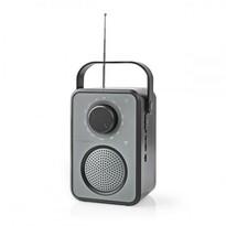 Nedis Přenosný radiopřijímač AM/FM 1,8 W, šedá/černá