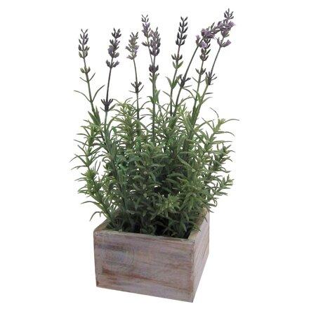 Umělá květina levandule v dřevěném boxu
