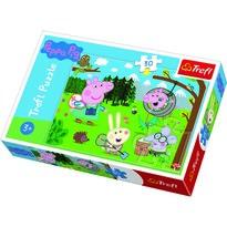 Trefl Puzzle Prasátko Peppa v přírodě, 30 dílků