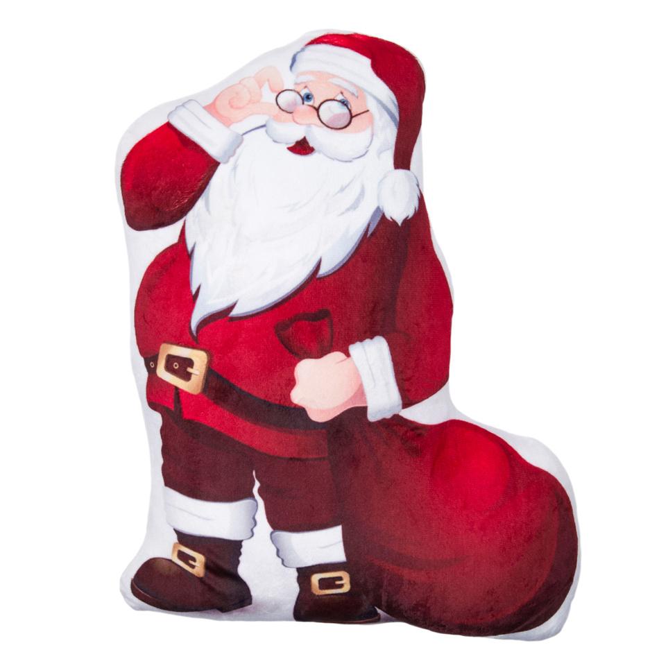 Jahu Tvarovaný 3D polštářek Santa Claus, 30 x 40 cm