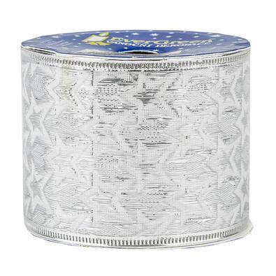 Stuha relief stříbrná