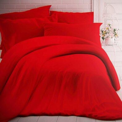 Kvalitex Bavlnené obliečky červená, 240 x 200 cm, 2 ks 70 x 90 cm