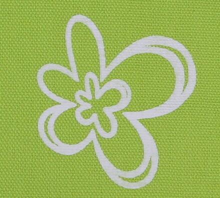 Bavlněné závěsy Květ, zelená