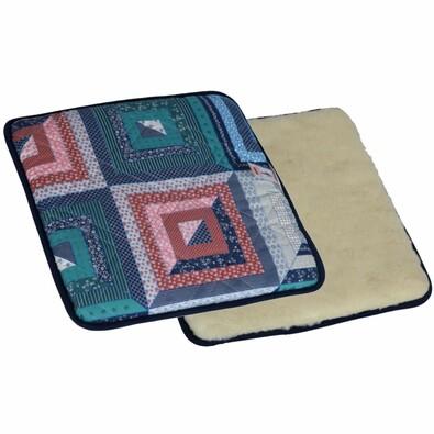 Poduszka wełniana na siedzisko z magnesami Merino , patchwork