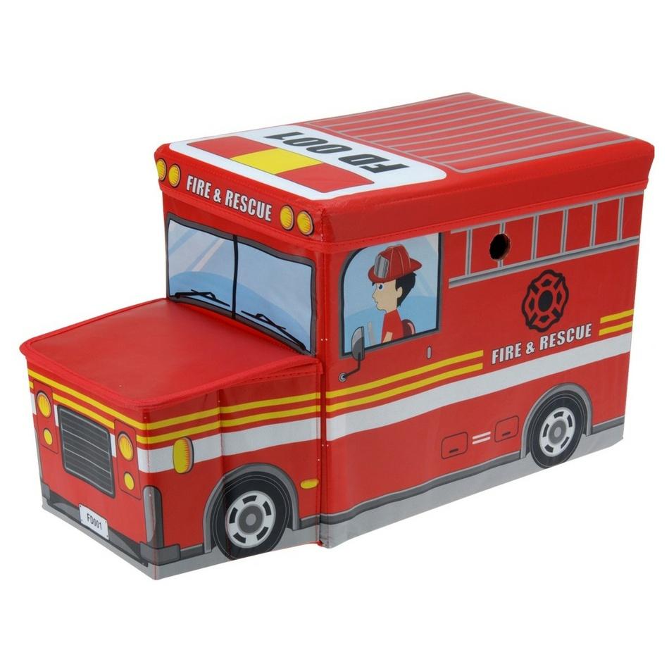 Box na hračky a sedátko Požární auto