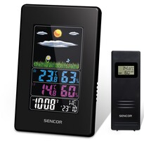 Sencor SWS 4000 Meteostanica s bezdrôtovým senzorom, čierna