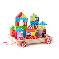 Woody Kocsi építőkockákkal, 35 db-os