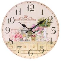 Zegar ścienny Flowers, śr. 34 cm