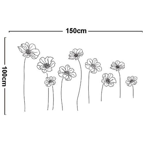 Samolepiaca dekorácia kvety