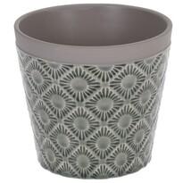 Osłonka ceramiczna na doniczkę Gandia ciemnoszary,śr. 12,5 cm