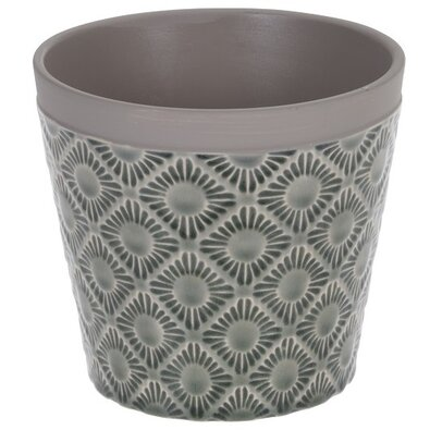 Keramický obal na květináč Gandia tmavě šedá, pr. 12,5 cm