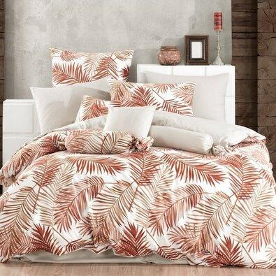 Bavlněné povlečení Palms Brown, 140 x 220 cm, 70 x 90 cm