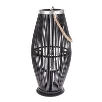 Latarnia bambusowa ze szkłem Delgada ciemnobrązowy, 59 x 29 cm