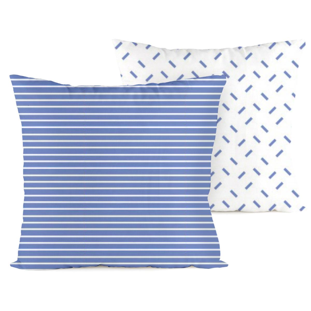 4home Povlak na polštářek Pruhy modrá, 40 x 40 cm