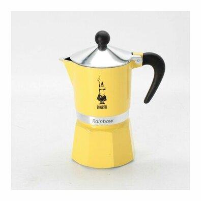 Bialetti Kávovar Rainbow 6 šálok, žltá