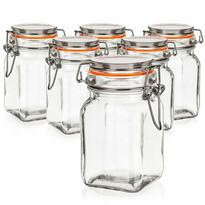 Set doze de sticlă cu dop ermetic 6 buc. Banquet a Lina 250 ml