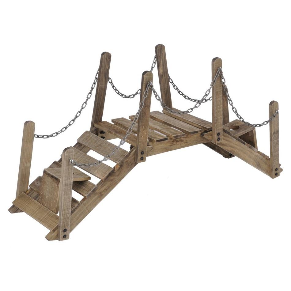 Most z borovicového dreva