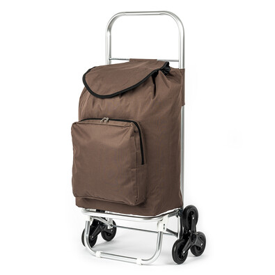 Nákupní taška na kolečkách Milano hnědá
