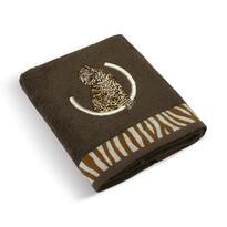 Ręcznik kąpielowy Lampart ciemnobrązowy, 70 x 140 cm