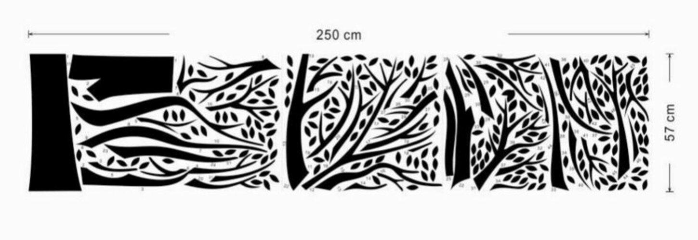 Samolepicí dekorace XXL černý rodinný strom