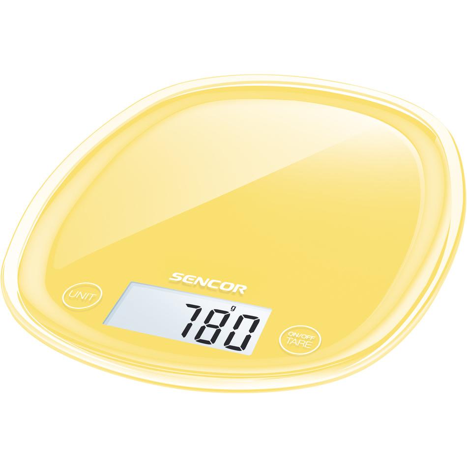 Fotografie Sencor SKS 36YL kuchyňská váha, žlutá