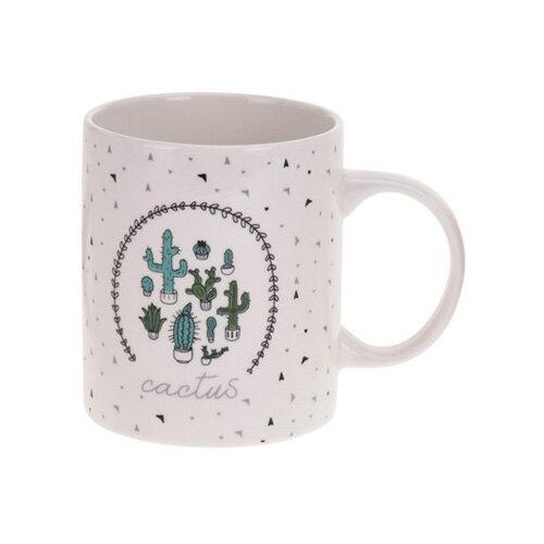 Koopman Porcelánový hrnček Kaktus, zelená