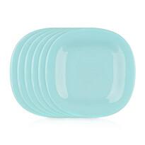 Luminarc Kwadratowy talerz deserowy CARINE 19 cm, 6 szt., turkusowy