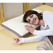 Pěnový polštář dlouhý, bílá, 68 x 40 x 8 cm