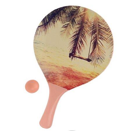 Zestaw tenis plażowy Summer, pomarańczowy
