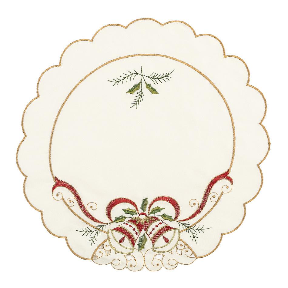 Vianočné prestieranie Zvony, súprava 4 ks, pr. 35 cm