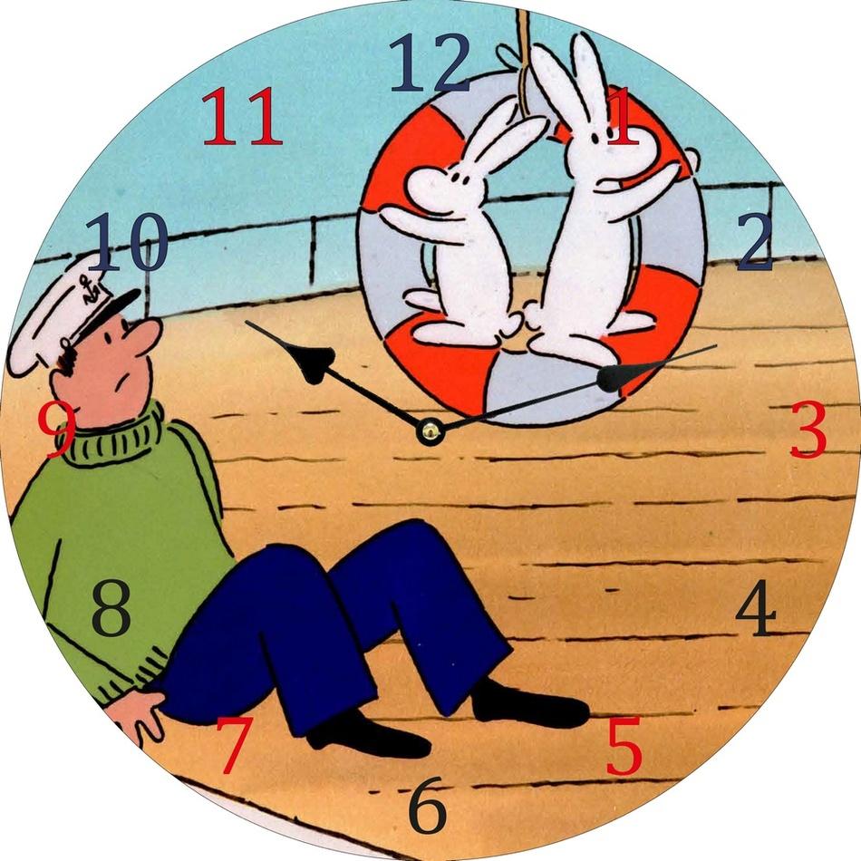 Nástěnné hodiny Bob a Bobek, 34 cm