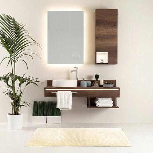 AmeliaHome Kúpeľňová predložka Bati biela, 60 x 90 cm