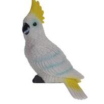 Papuga dekoracyjna Kakadu, 7 x 10 x 18 cm