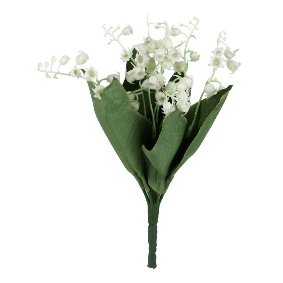 Umelá kvetina konvalinka, sada 5 ks