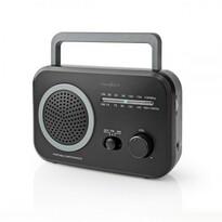Nedis Prenosný rádioprijímač AM/FM 1,8 W, čierna