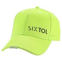 Sixtol Kšiltovka s LED světlem B-CAP 25lm, USB, uni, fluorescentní zelená
