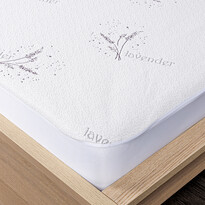 4Home Lavender Chránič matrace s lemem, 180 x 200 cm + 30 cm