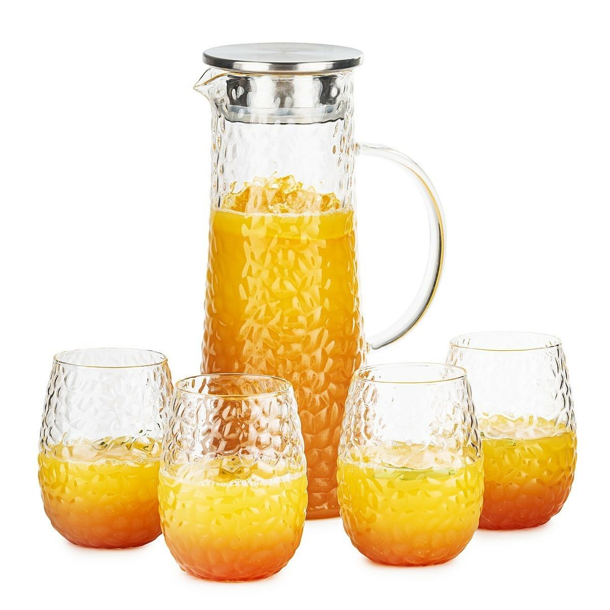 4Home Sada džbánu a 4 pohárov Raindrop Hot&Cool