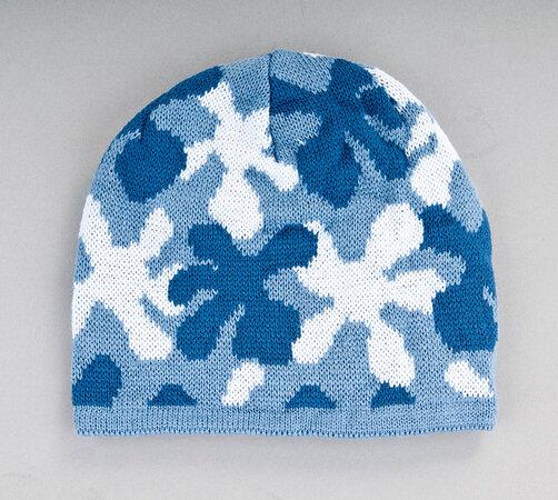 Dětská pletená čepice Karpet 5155, modrá