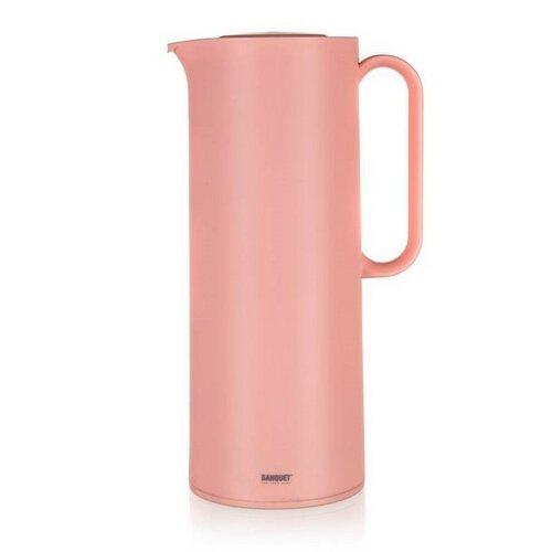 Banquet MATTY műanyag termosz palack, 1 l, rózsaszín