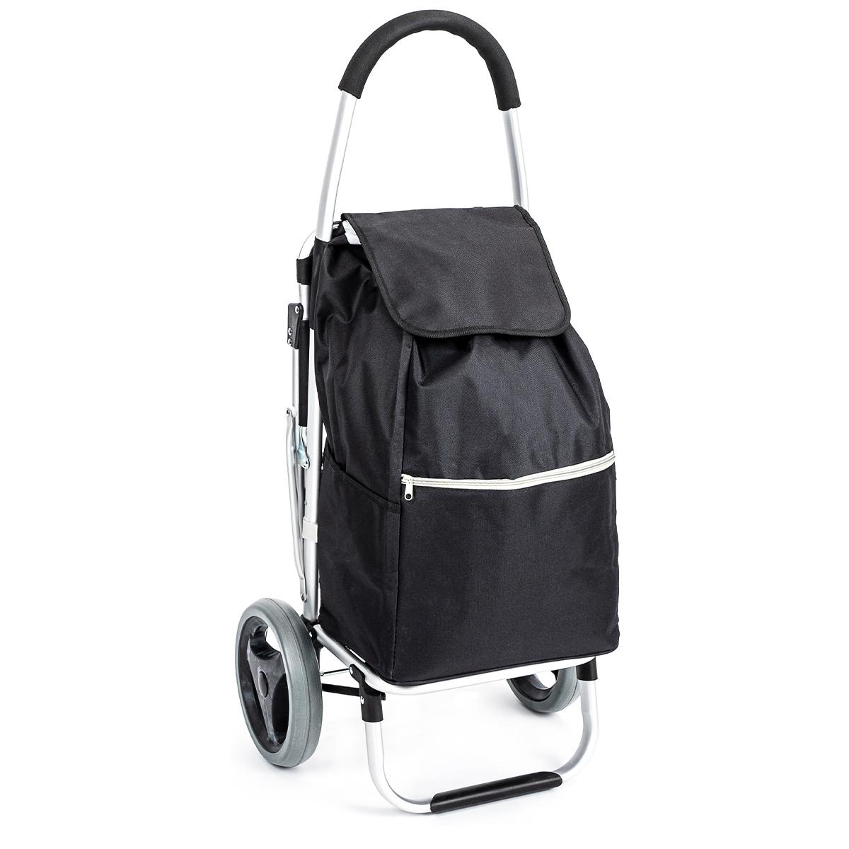 Aldo Nákupná taška na kolieskach so sedátkom Comfort, čierna