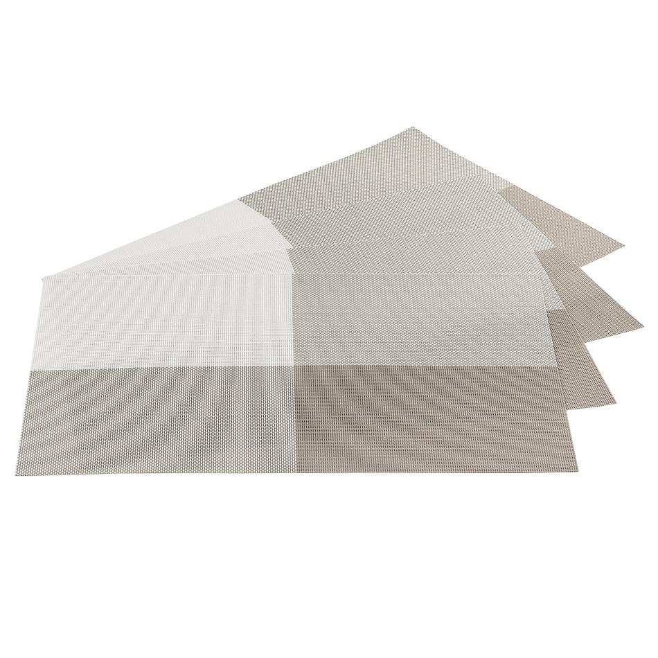 Jahu Prostírání DeLuxe šedá, sada 4 kusů, 30 x 45 cm