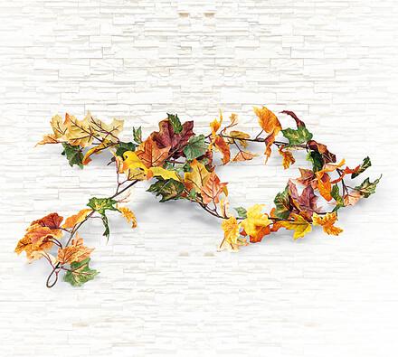 Umělá květina girlanda podzimní listí