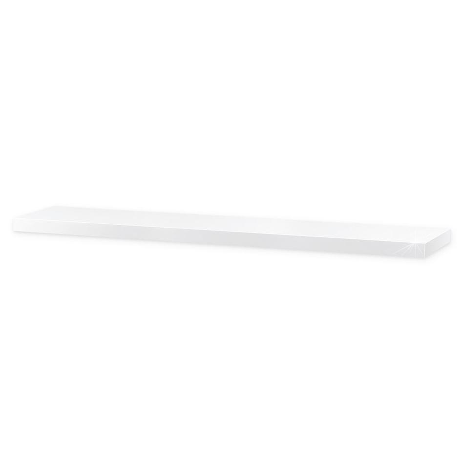 Półka naścienna błysk 120 cm biała, 120 cm