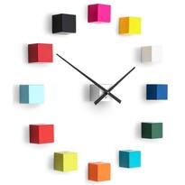 Future Time FT3000MC Cubic multicolor Designowe zegar samoprzylepny, śr. 50 cm