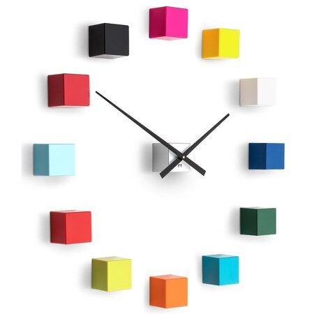 Future Time FT3000MC Cubic multicolor Designové samolepicí hodiny, pr. 50 cm
